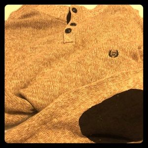 Chaps extra large threaded corduroy elbow sweater